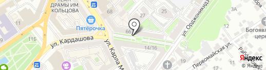 Т-проект на карте Воронежа