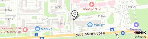 Киоск по продаже питьевой воды на карте Воронежа