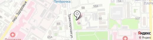 Воронежская областная станция переливания крови на карте Воронежа