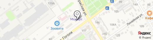 Парикмахерская на ул. Гоголя (Динская) на карте Динской