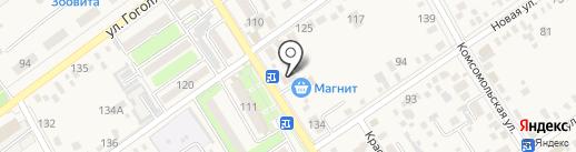 Магазин цветов на Красной (Динская) на карте Динской