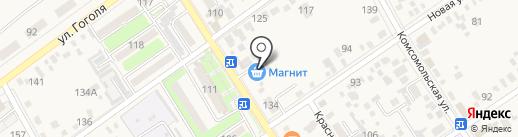Магнит на карте Динской