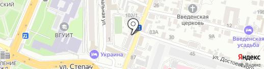 Закон и Бизнес на карте Воронежа