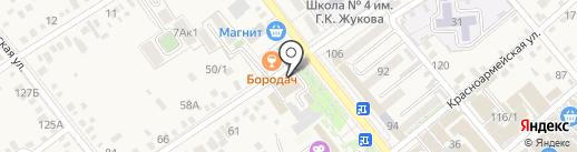 Тритон на карте Динской