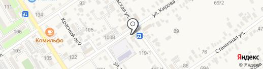 Алёнка на карте Динской