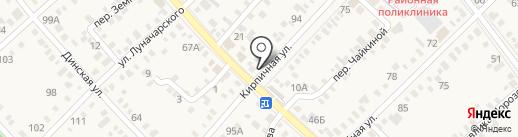 Продуктовый магазин на Кирпичной (Динская) на карте Динской