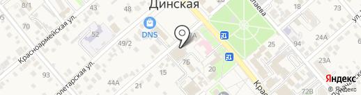 Мастерская по ремонту обуви на карте Динской
