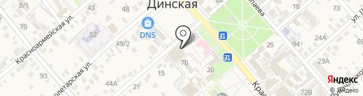 Реклама на 5 на карте Динской