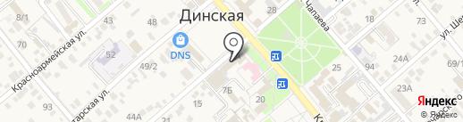 КАРАВАН на карте Динской