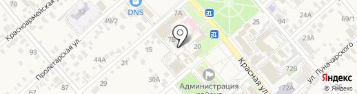 Есения на карте Динской