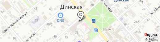 Орбита на карте Динской