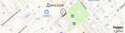 Динчанка на карте Динской