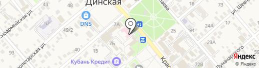 Детская поликлиника на карте Динской