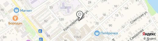 Славянка на карте Динской