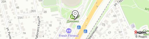 Тандем на карте Воронежа