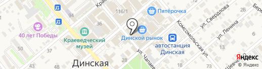 Факел на карте Динской