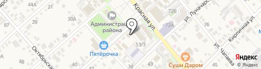 Скрепка на карте Динской
