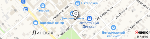 Магазин мясной продукции на ул. Чапаева (Динская) на карте Динской