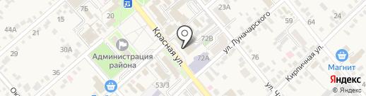 Салон мебели на карте Динской