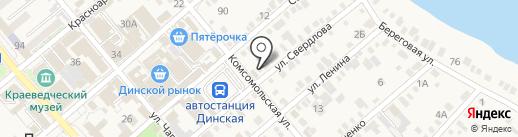 Сеть зооветмаркетов на карте Динской