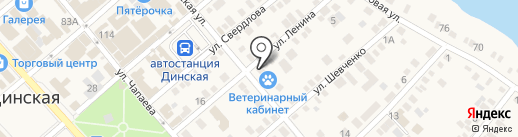 Кнопик на карте Динской