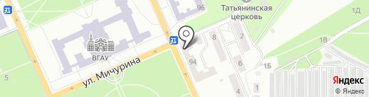 Шаверма на карте Воронежа