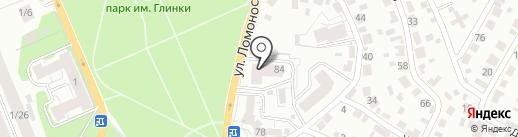 Университетский на карте Воронежа