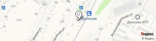 Продуктовый магазин на Привокзальной площади (Динская) на карте Динской