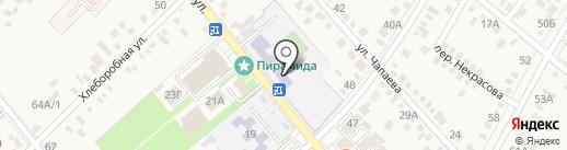 Средняя общеобразовательная школа №3 на карте Динской