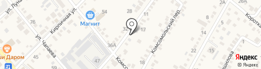 Продуктовый магазин на Хлеборобной (Динская) на карте Динской