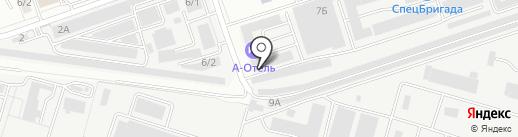 А-Отель на карте Воронежа