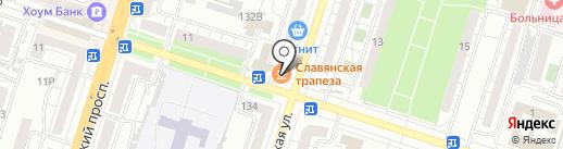 Славянская трапеза на карте Воронежа