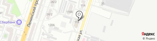 М и Ф на карте Воронежа
