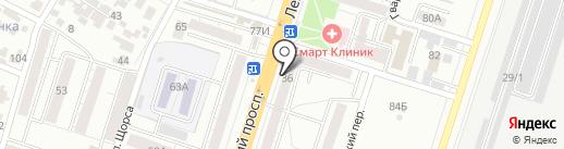 Магазин нижнего белья и сумок на карте Воронежа