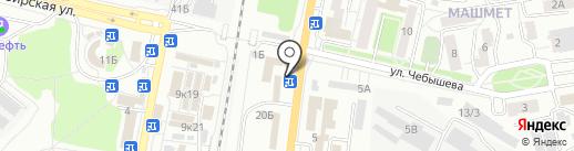 Цветная аптека на карте Воронежа