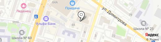 Все сюда на карте Воронежа