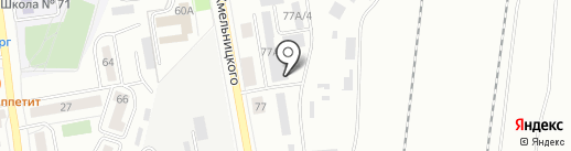 СП мебель на карте Воронежа
