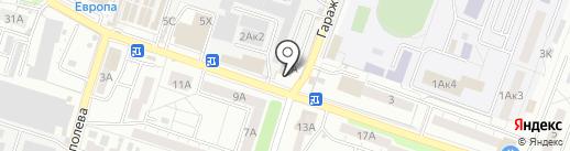 Евангелина на карте Воронежа