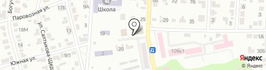 На южной на карте Воронежа