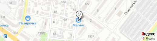 Магнит на карте Воронежа
