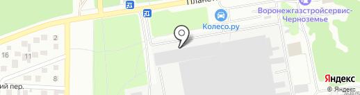 Лотос-Лэнд на карте Воронежа