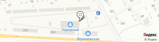 Воронежская Фруктовая Компания на карте Отрадного