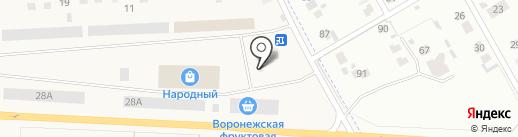 Универсальный рынок Репный на карте Отрадного