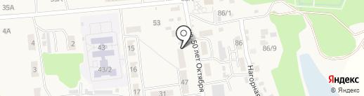 Отрадное, МКП на карте Отрадного