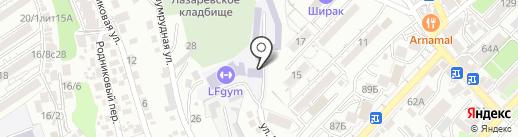 Лазаревская автомобильная школа на карте Сочи