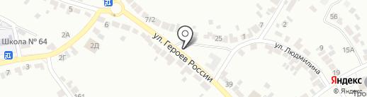 Метелица на карте Воронежа