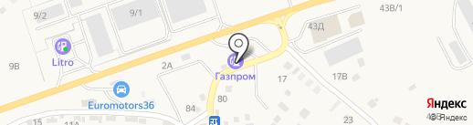 АЗС Газпром на карте Бабяково