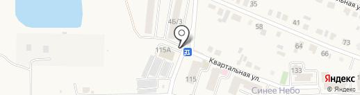Автостоянка на карте Новой Усмани