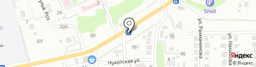 Магазин продуктов на карте Азова
