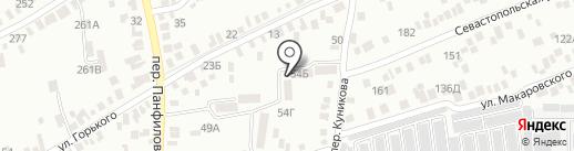 Хуторок, ТСЖ на карте Азова